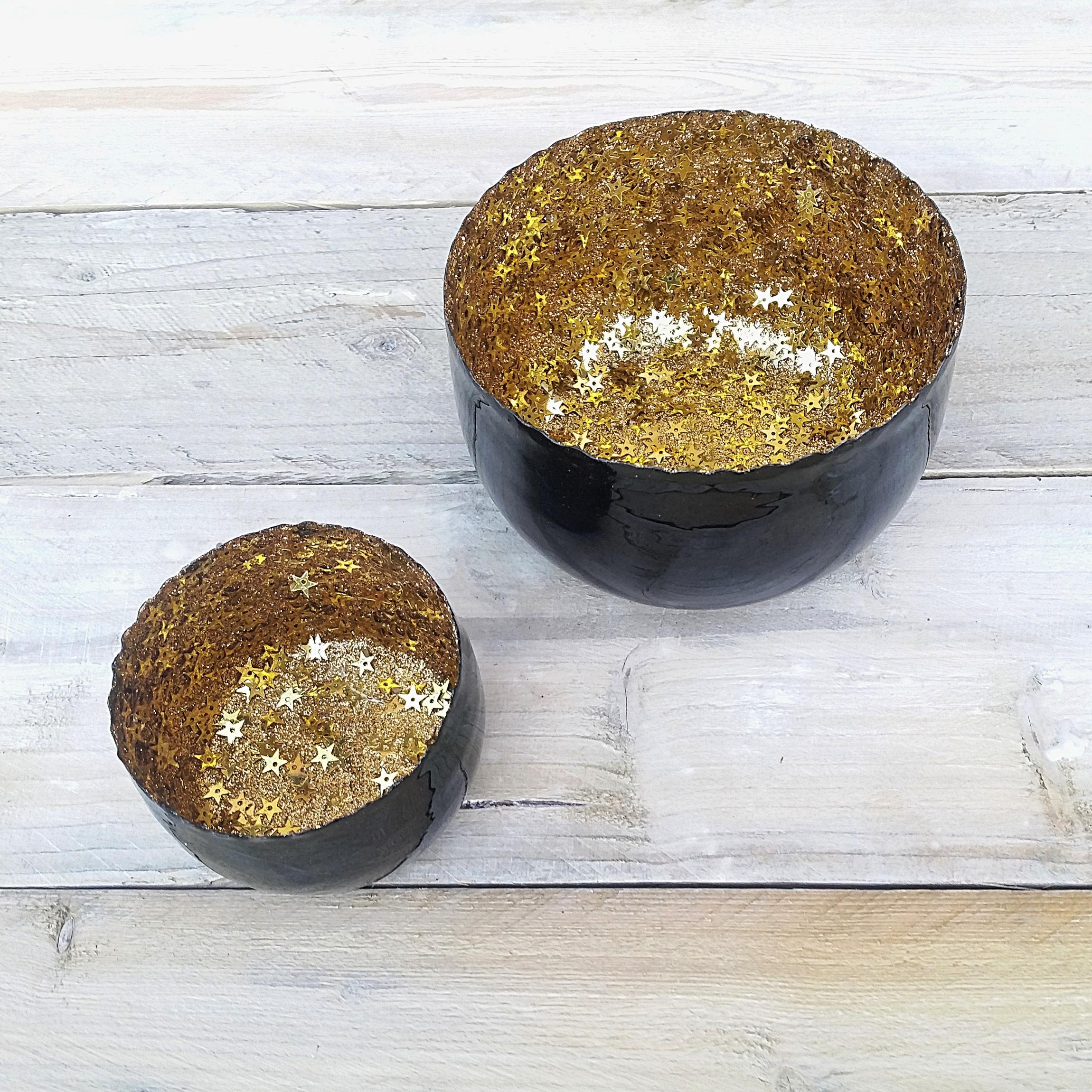 teelichthalter xela stars sph renlicht windlicht schwarz gold sterne stern ebay. Black Bedroom Furniture Sets. Home Design Ideas