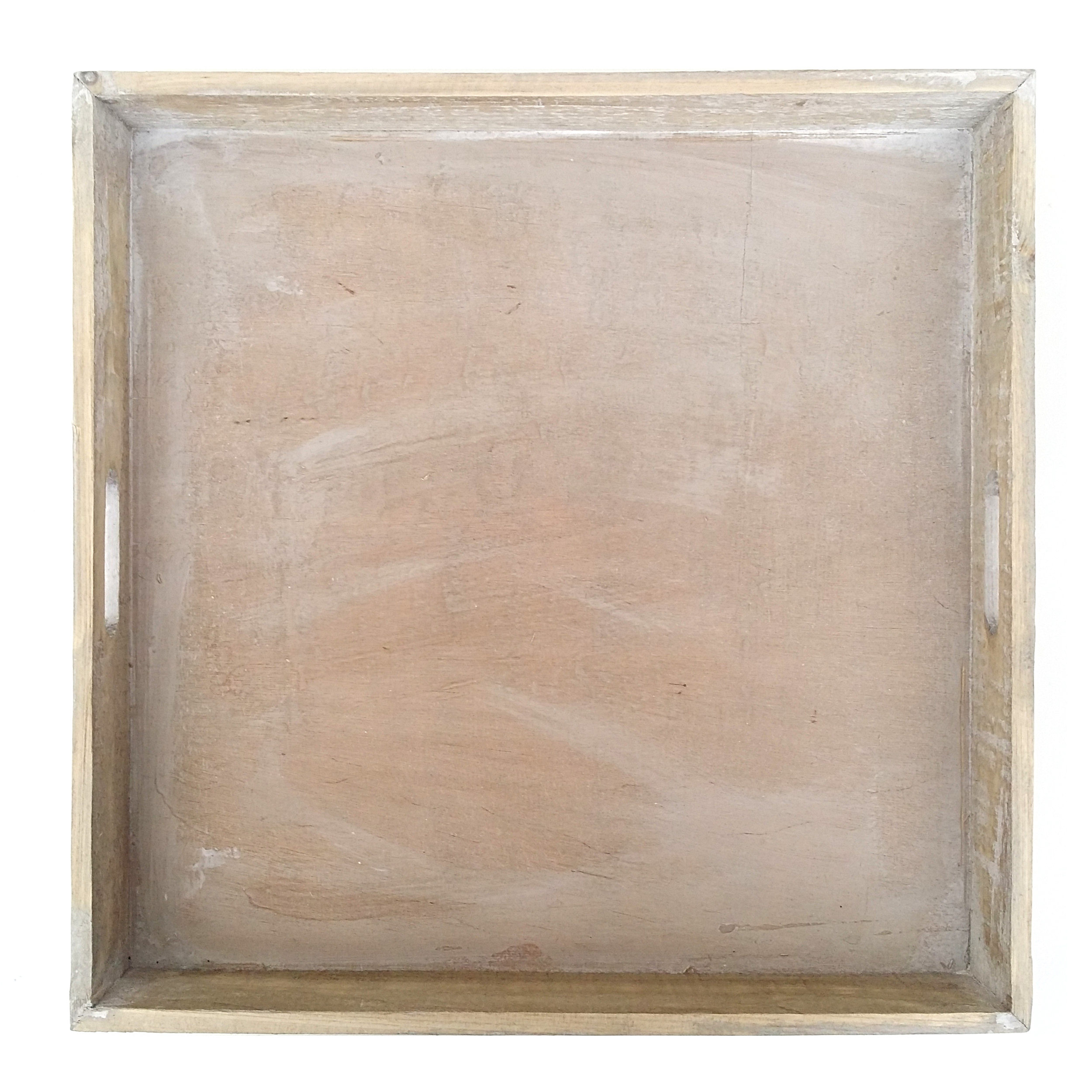 3er tablett set holz gek lkt gross quadratisch kerzentablett dekotablett neu. Black Bedroom Furniture Sets. Home Design Ideas